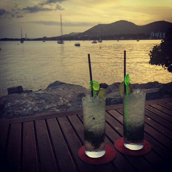 Cocktails by the beach in Mallorca