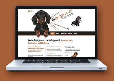 Responsive website design - Desktop