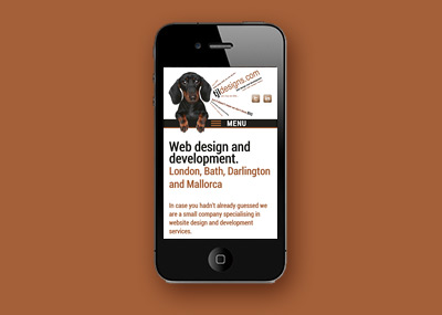 Responsive website design - Mobile