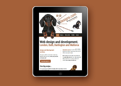 Responsive website design - Tablet